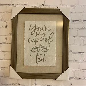 You Are My Cup Of Tea Wooden Wall Frame